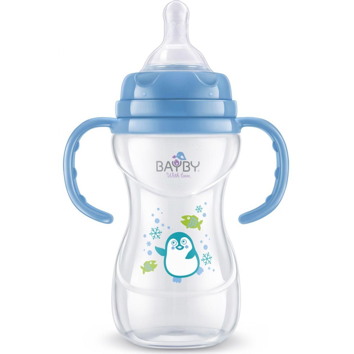 Bayby Kojenecká láhev modrá 240ml 6m+
