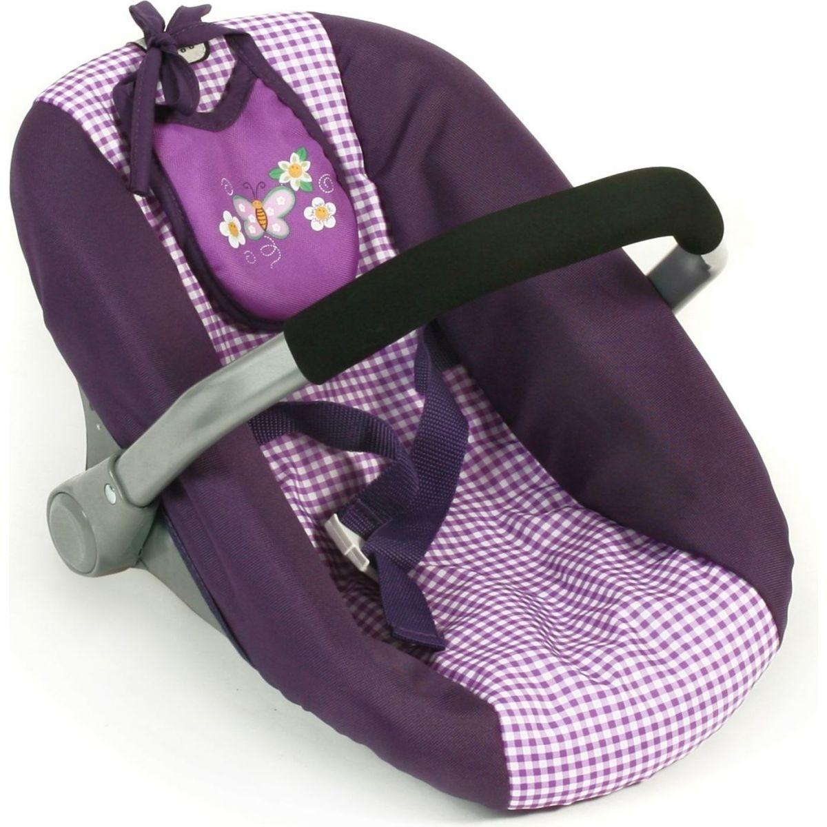 Bayer Chic Autosedačka pro panenky - Purple Checker