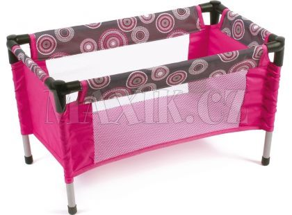 Bayer Chic Cestovní postýlka - Hot pink pearls