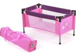 Bayer Chic Cestovní postýlka - Dots purple pink