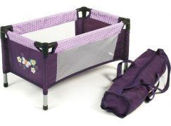 Bayer Chic Cestovní postýlka - Purple Checker