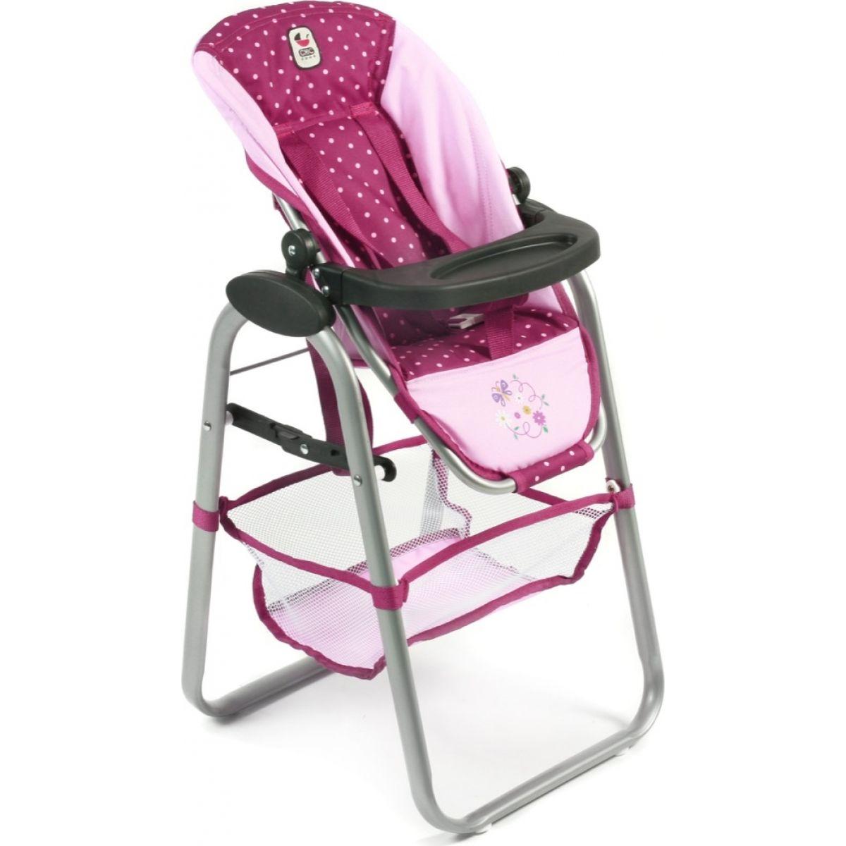 Bayer Chic Jídelní židlička pro panenku - Dots Brombeere