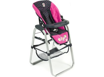 Bayer Chic Jídelní židlička pro panenku - Dots Navy Pink
