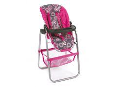 Bayer Chic Jídelní židlička pro panenku - Hot pink pearls