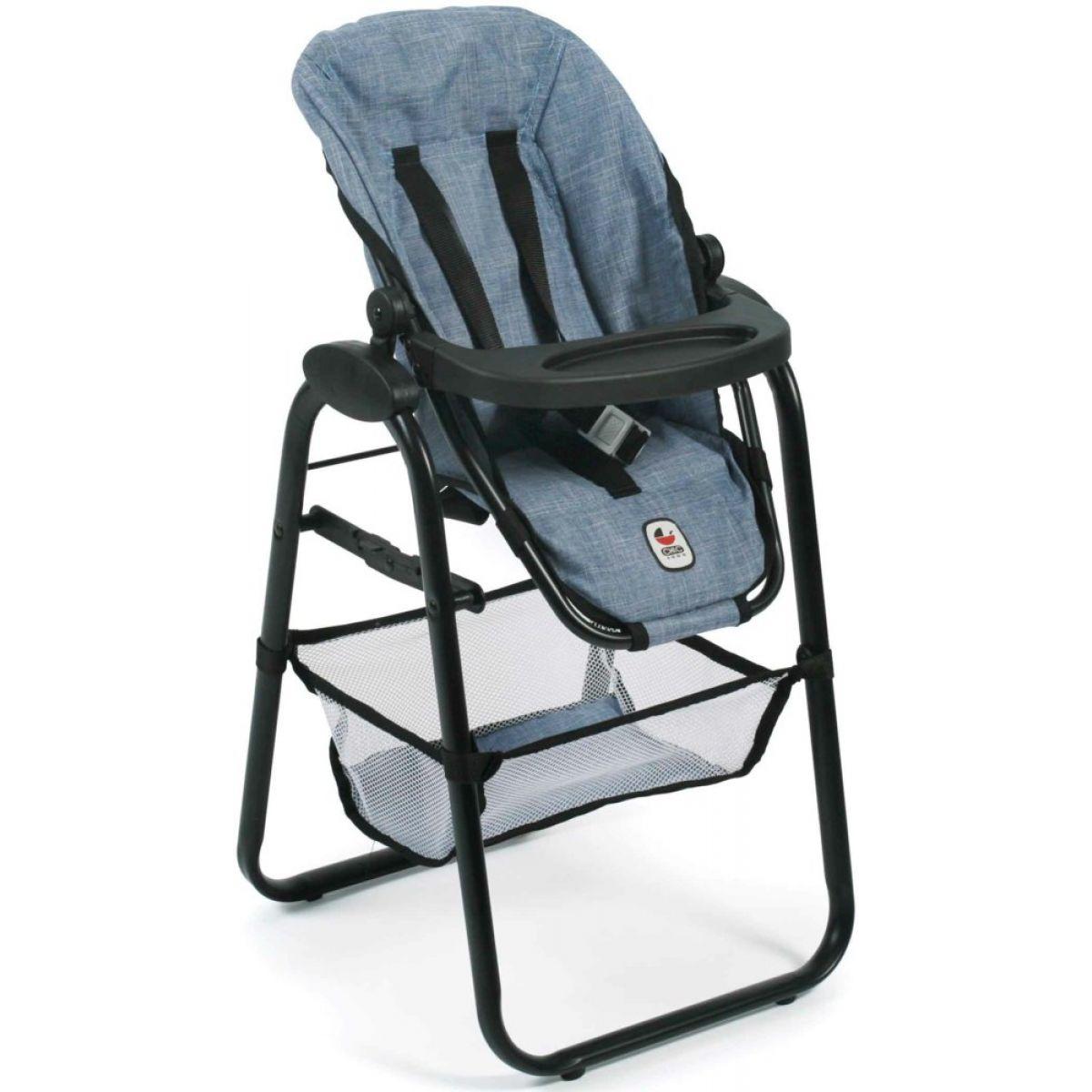 Bayer Chic Jídelní židlička pro panenku - Jeans modrá
