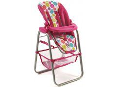 Bayer Chic Jídelní židlička pro panenku - Pinky Bubbles