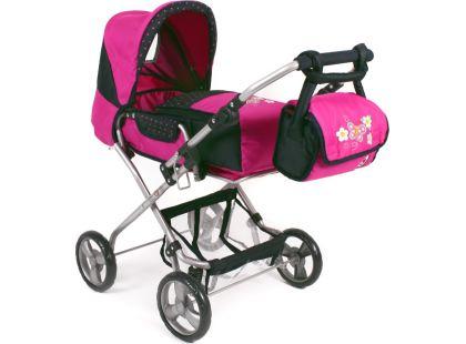 Bayer Chic Kočárek pro panenky Bambina - Dots Navy Pink