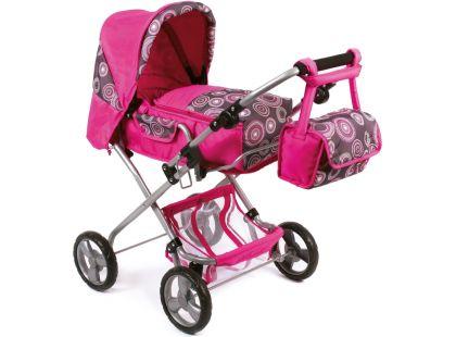 Bayer Chic Kočárek pro panenky Bambina - hot pink pearls