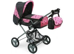 Bayer Chic Kočárek pro panenky Bambina - Hvězdičky šedivé