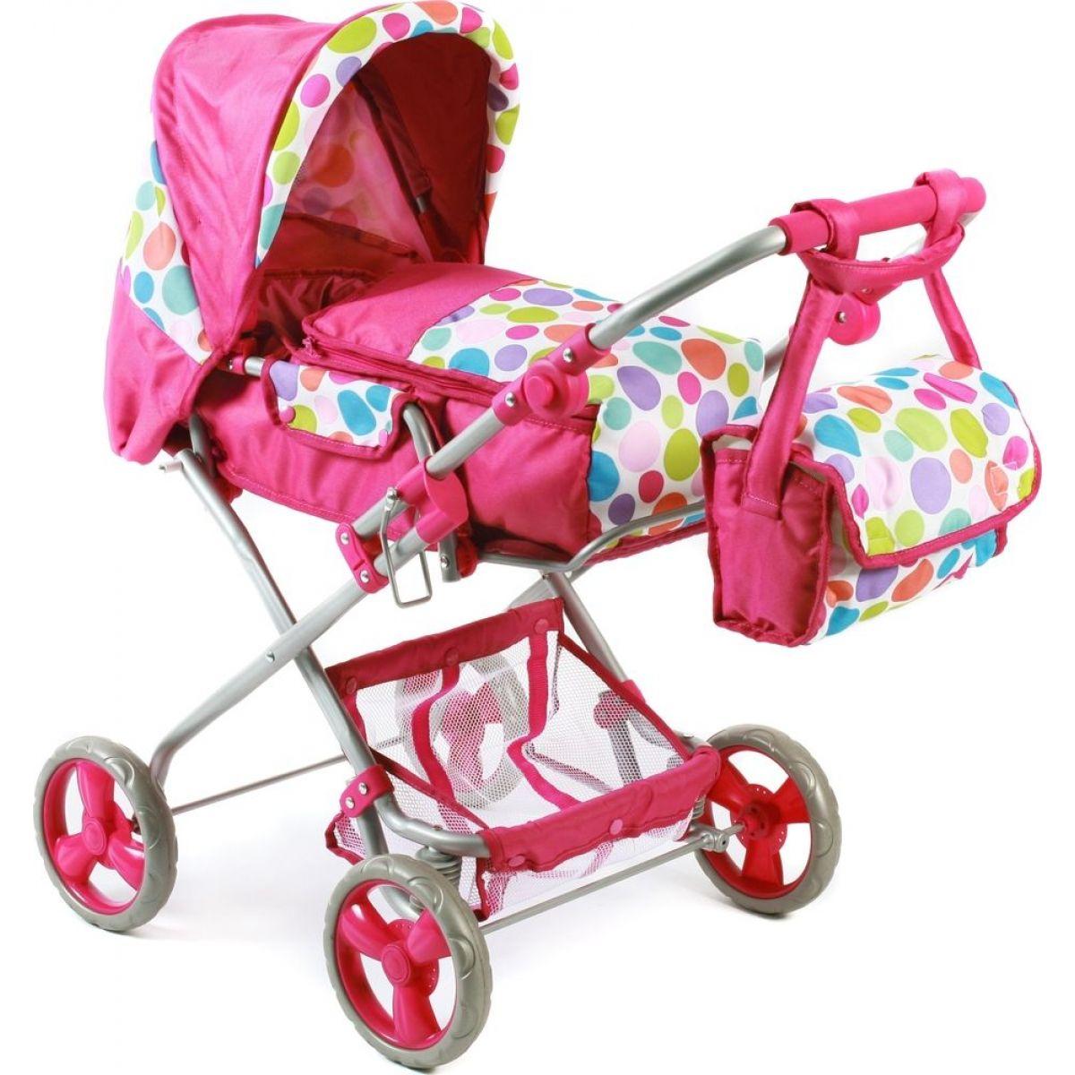 Bayer Chic Kočárek pro panenky Bambina - Pinky Bubbles
