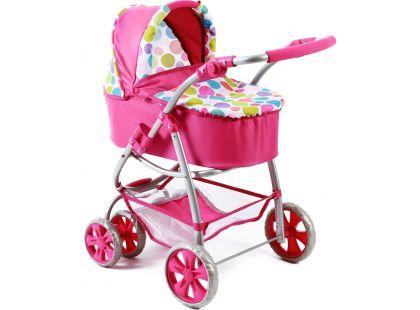 Bayer Chic Kočárek pro panenky Bellina 2v1 - Pinky Bubbles