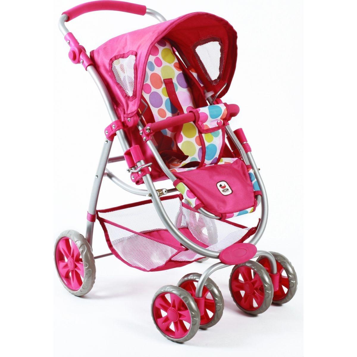 Bayer Chic Kočárek pro panenky Bellina 2v1 - Pinky Bubbles #2