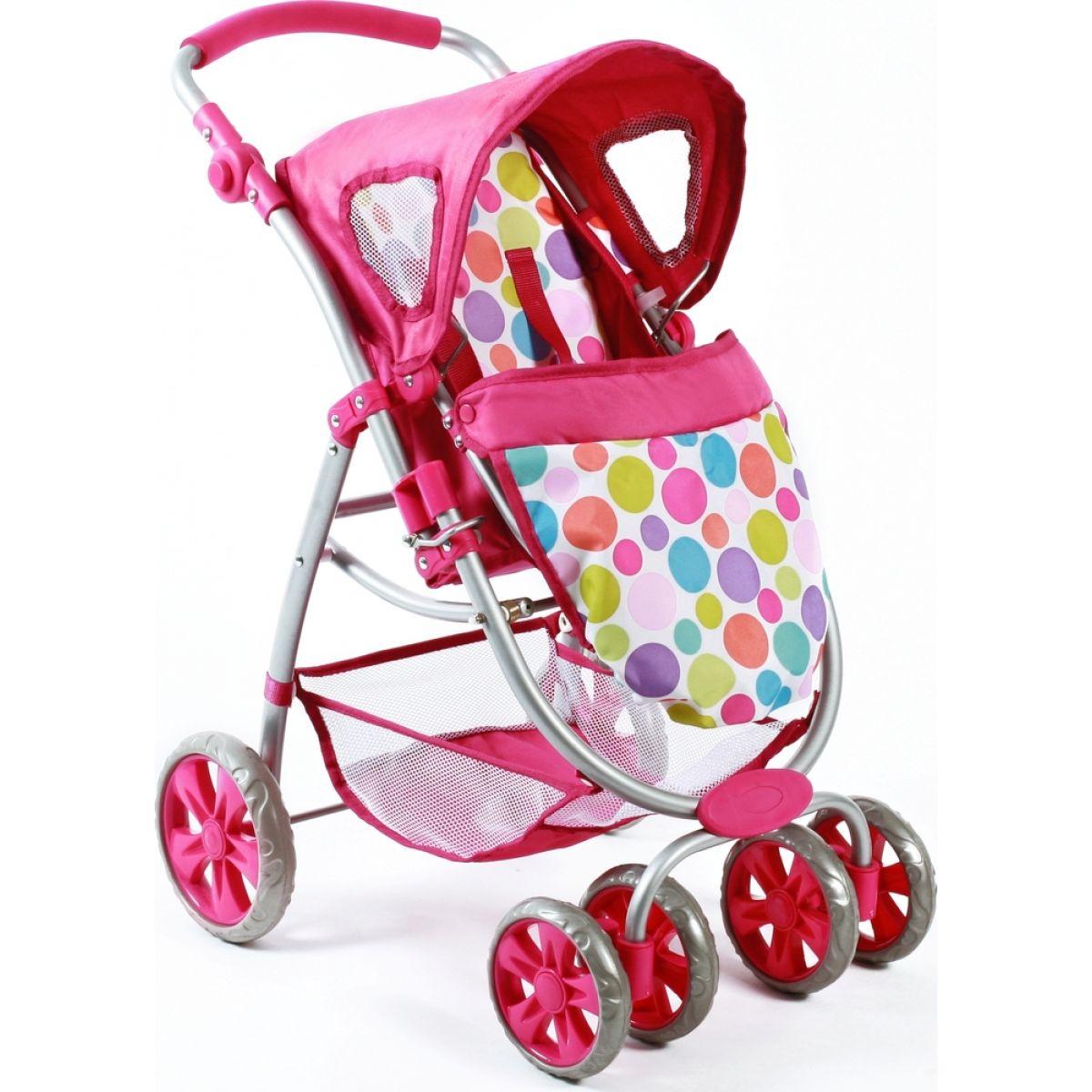 Bayer Chic Kočárek pro panenky Bellina 2v1 - Pinky Bubbles #3
