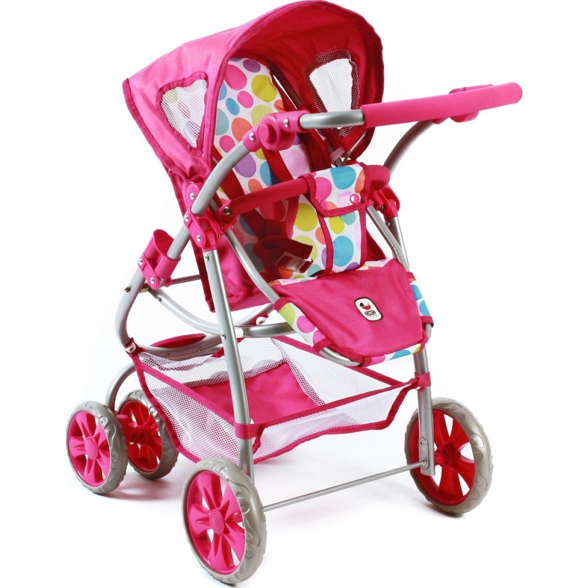 Bayer Chic Kočárek pro panenky Bellina 2v1 - Pinky Bubbles #4
