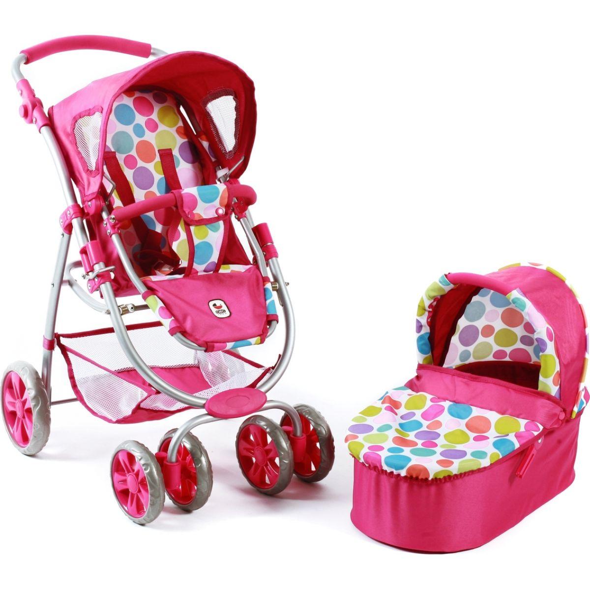 Bayer Chic Kočárek pro panenky Bellina 2v1 - Pinky Bubbles #5