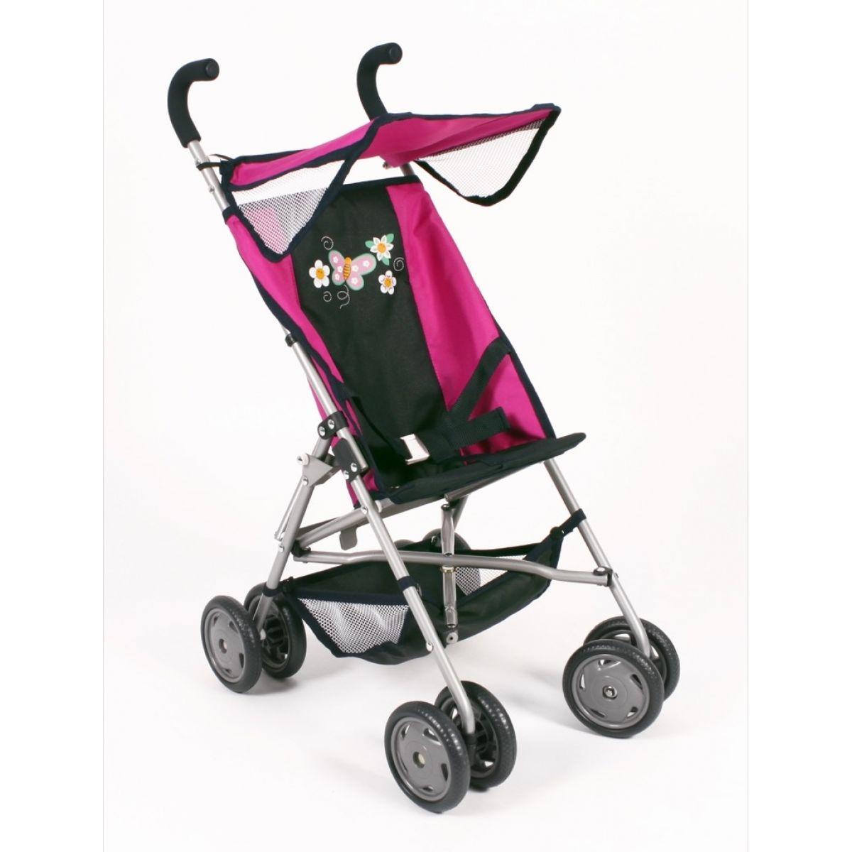 Bayer Chic Kočárek pro panenky Buggy Vita - Dots Navy Pink