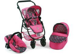 Bayer Chic Kočárek pro panenky Emotion All In 3v1 - Pink Stars