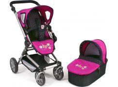 Bayer Chic Kočárek pro panenky Fides 2v1 - Dots Navy-Pink