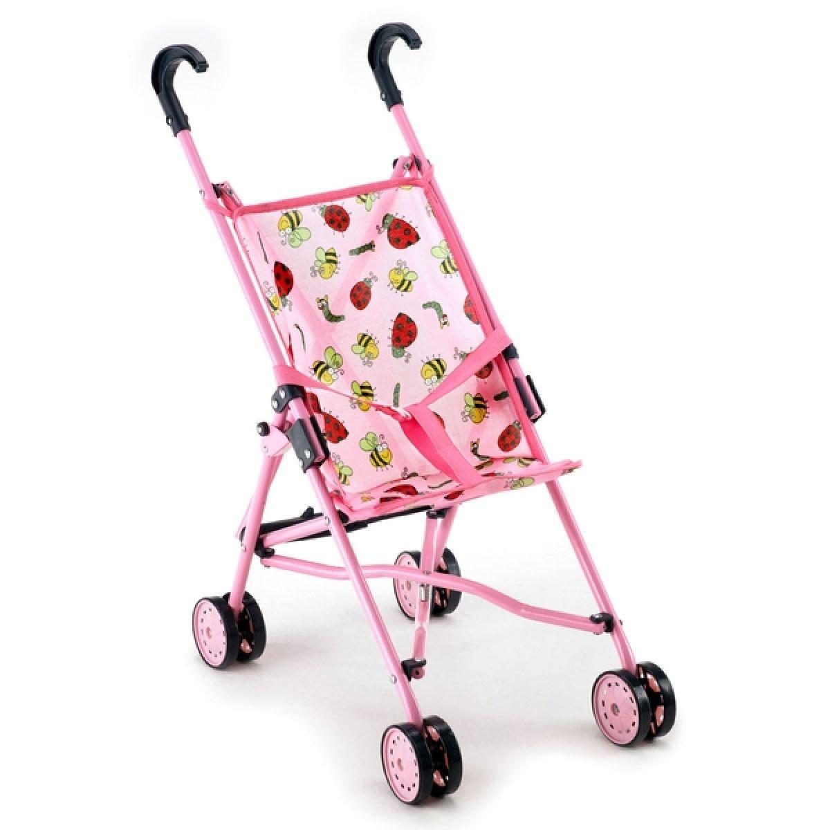 Bayer Chic Kočárek pro panenky Funny - růžová s beruškami