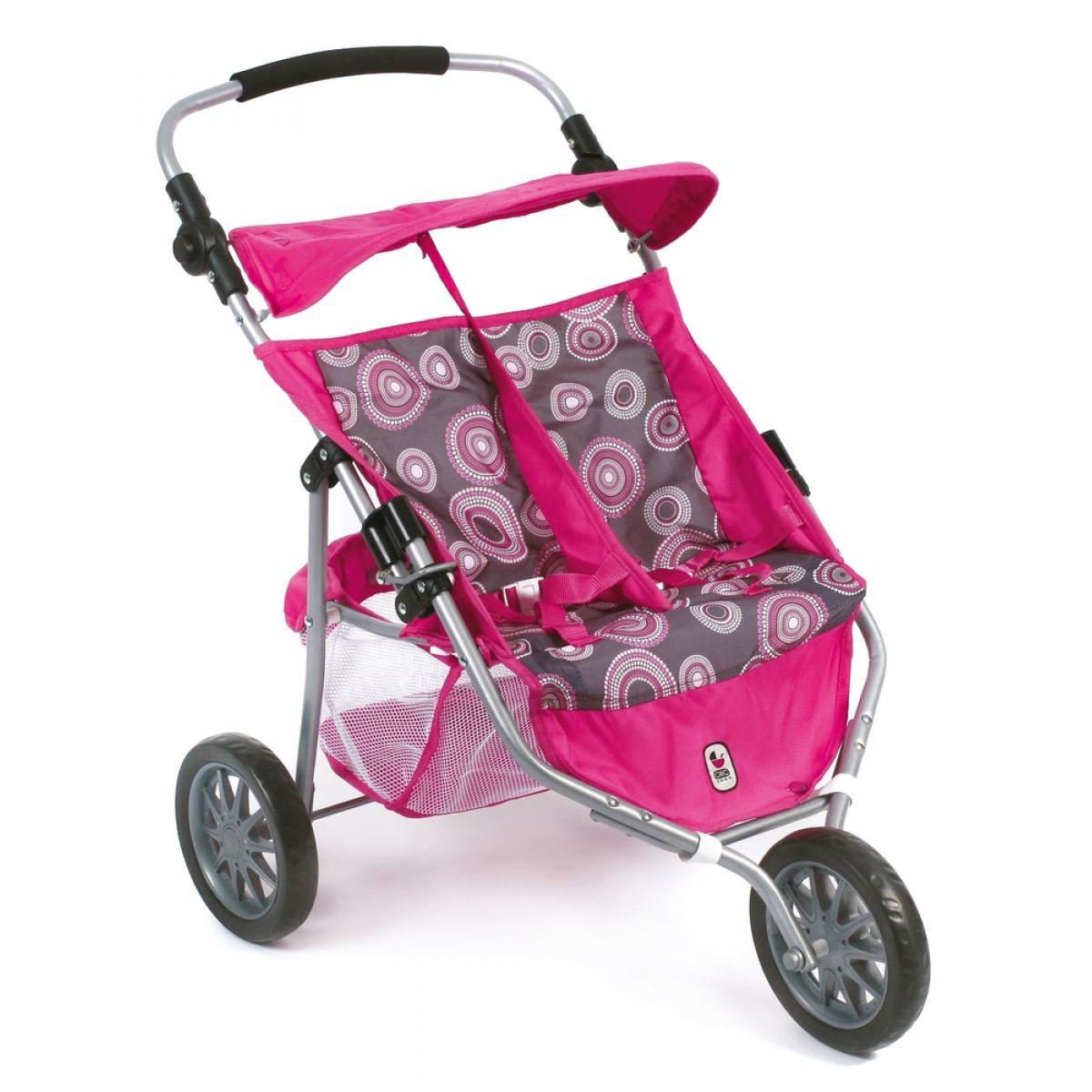 Bayer Chic Kočárek pro panenky Jogger - Hot pink pearls