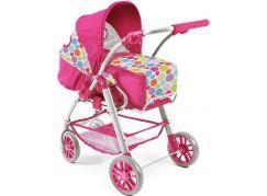 Bayer Chic Kočárek pro panenky Lino - Pinky Bubbles