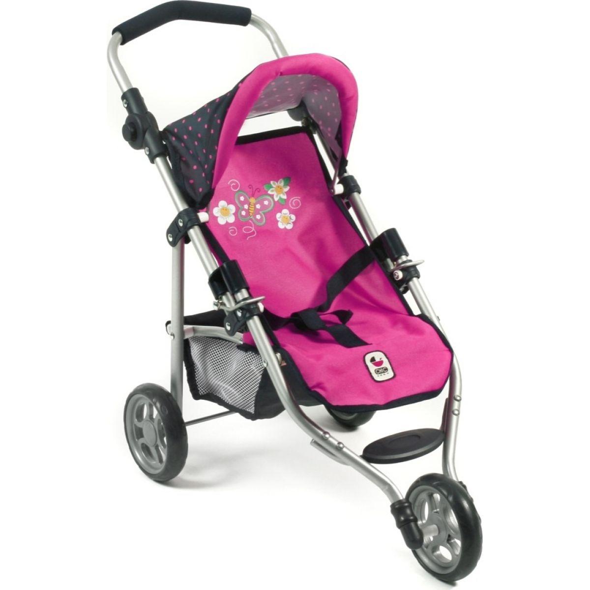 Bayer Chic Kočárek pro panenky Lola - Dots Navy Pink