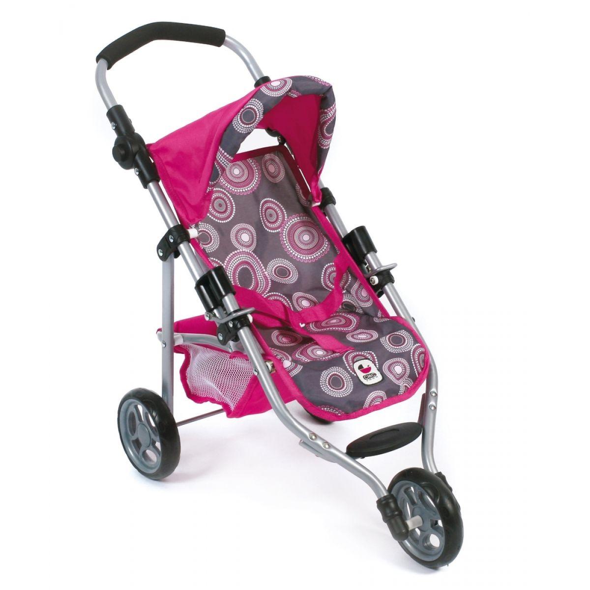 Bayer Chic Kočárek pro panenky Lola - Hot pink pearls
