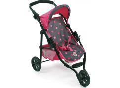 Bayer Chic Kočárek pro panenky Lola - Hvězdičky růžové