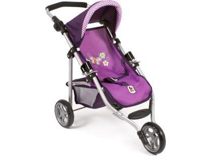 Bayer Chic Kočárek pro panenky Lola - Purple Checker