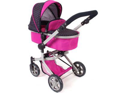 Bayer Chic Kočárek pro panenky Mika - Navy-Pink