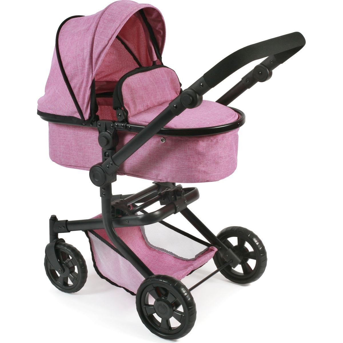 Bayer Chic Kočárek pro panenky Mika - Pink Jeans
