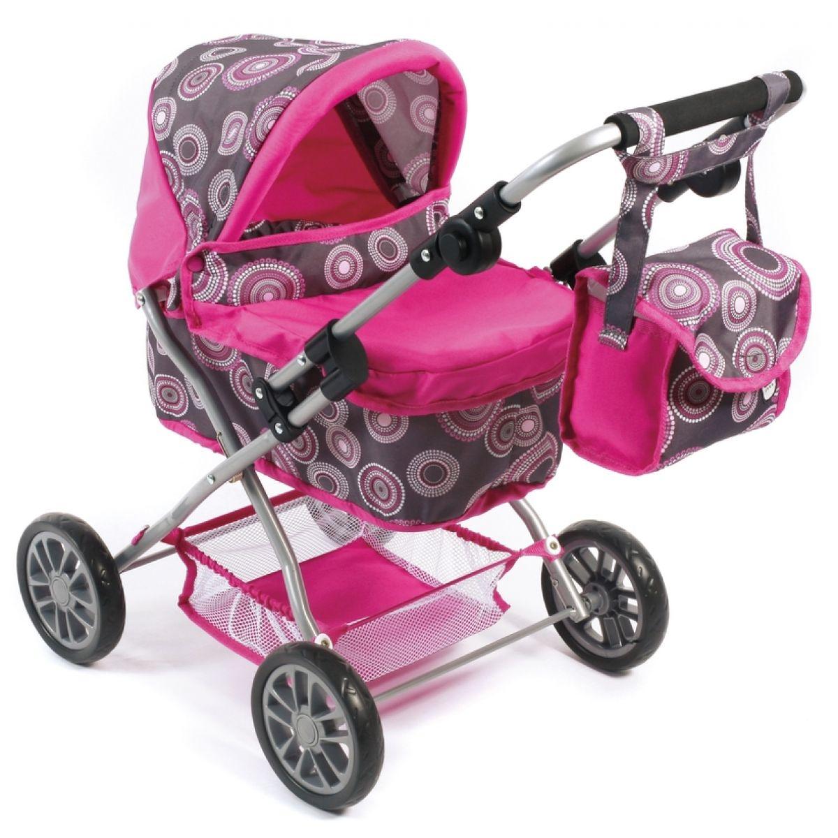Bayer Chic Kočárek pro panenky Picobello - hot pink pearls