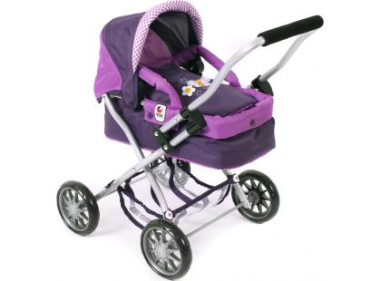 Bayer Chic Kočárek pro panenky Smarty - Purple Checker