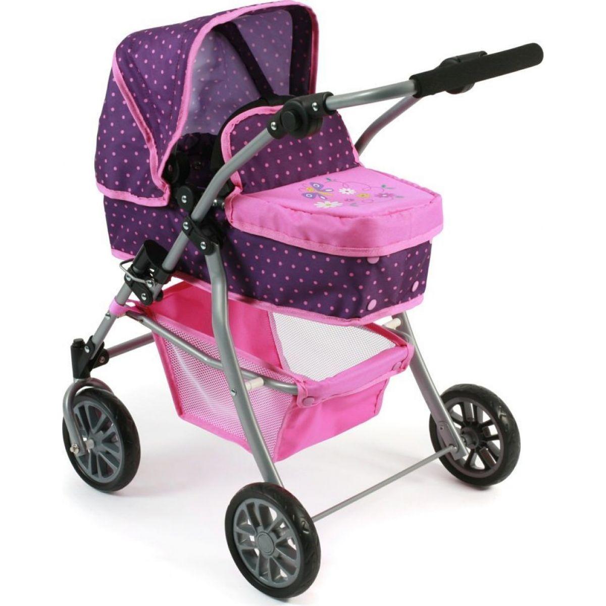 Bayer Chic Kočárek pro panenky Speedy - Dots purple pink