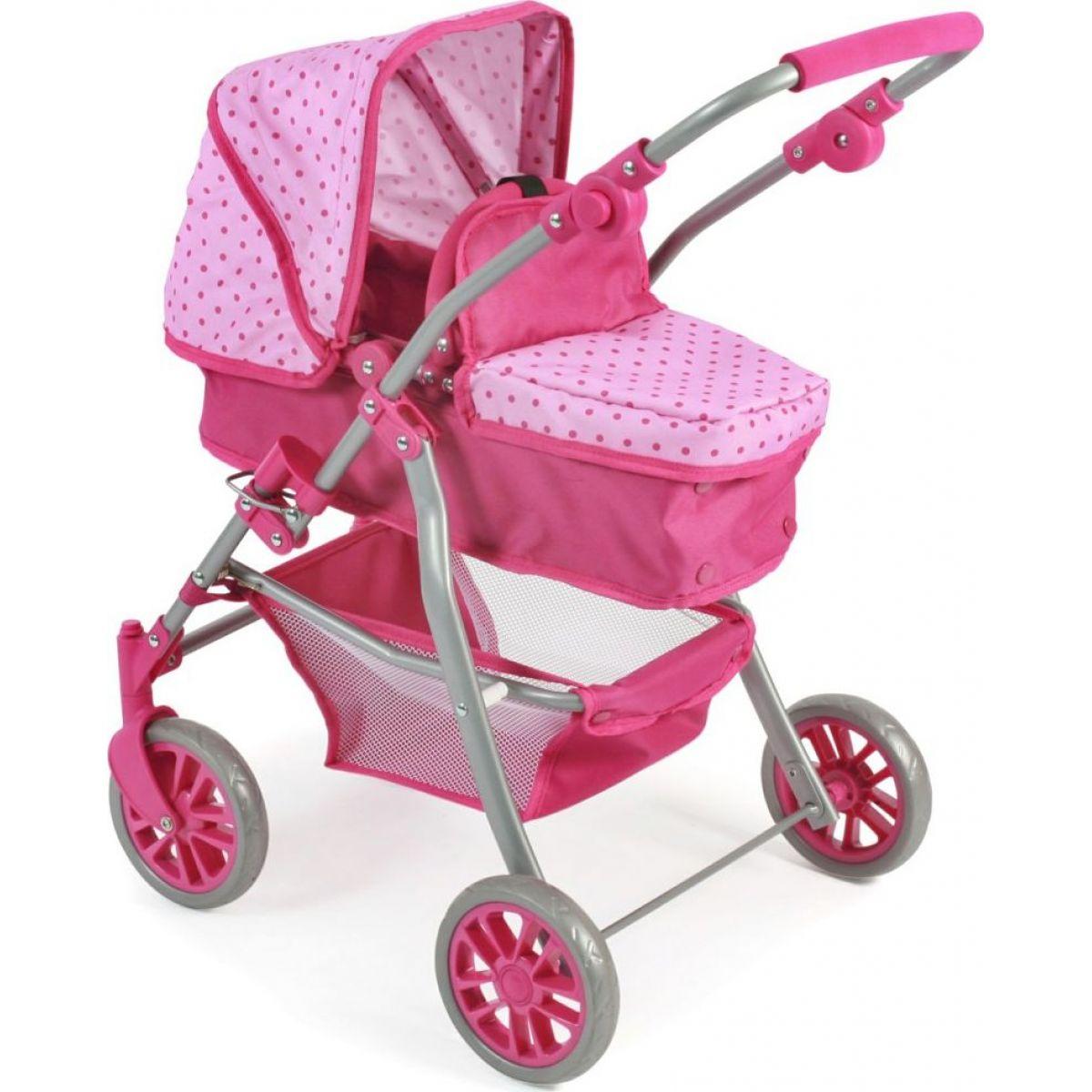 Bayer Chic Kočárek pro panenky Speedy - Pink Dots