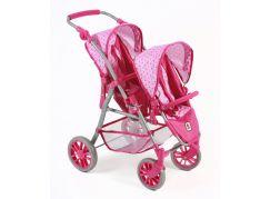 Bayer Chic Kočárek pro panenky Twinny - Pink Dots