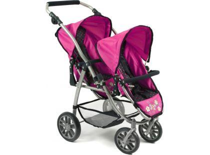 Bayer Chic Kočárek pro panenky Vario - Dots Navy Pink