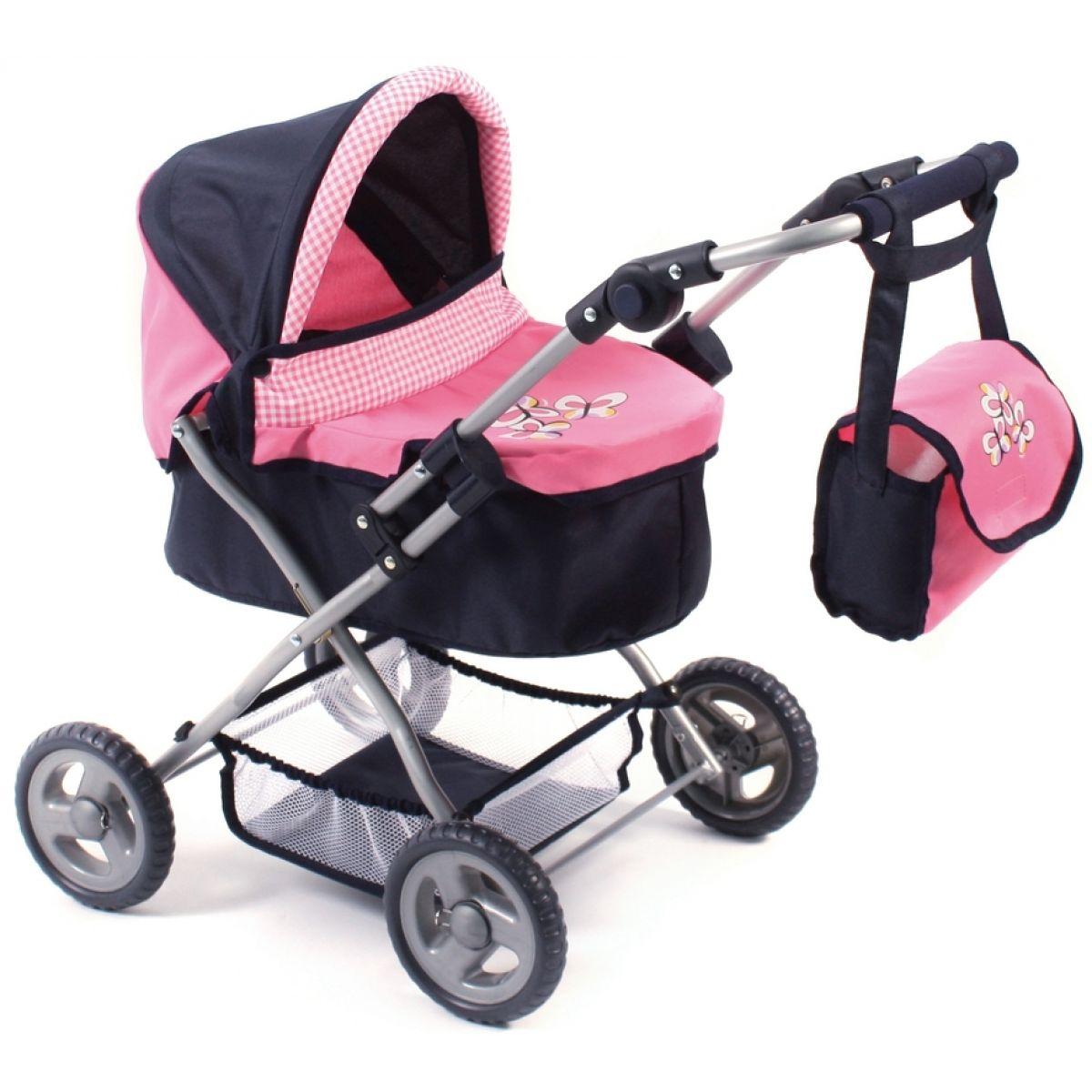 Bayer Chic Kočárek pro panenky Picobello - pink checker