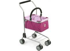 Bayer Chic Nákupní vozík s košíkem - Dots Brombeere