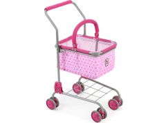 Bayer Chic Nákupní vozík s košíkem - Pink Dots