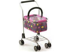 Bayer Chic Nákupní vozík s košíkem - Pinky Balls