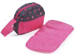 Bayer Chic Přebalovací taška na kočárek hvězdičky růžové