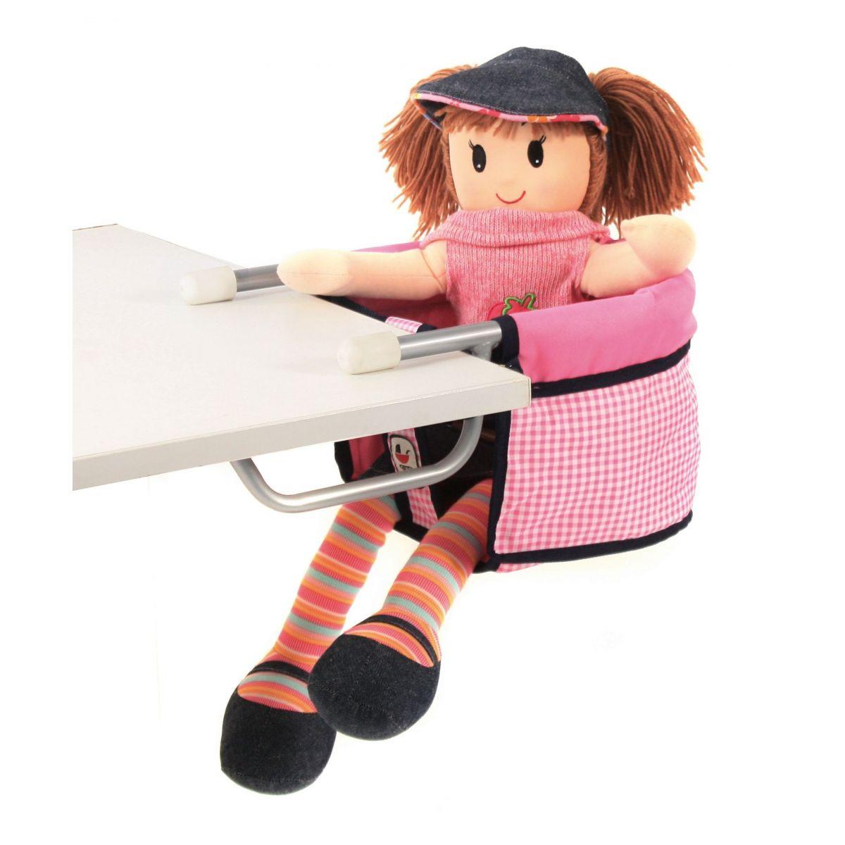 Bayer Chic Sedačka ke stolu pro panenku - pink checker