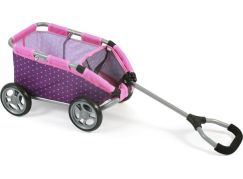 Bayer Chic Vozík Skipper - Dots purple pink