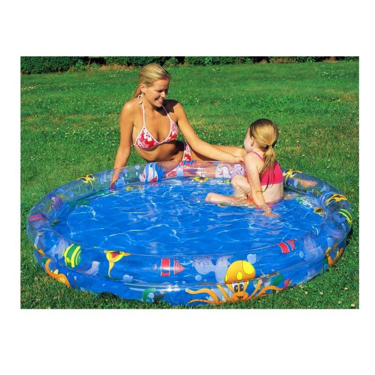 Bazén dvoukomorový 120x20 cm