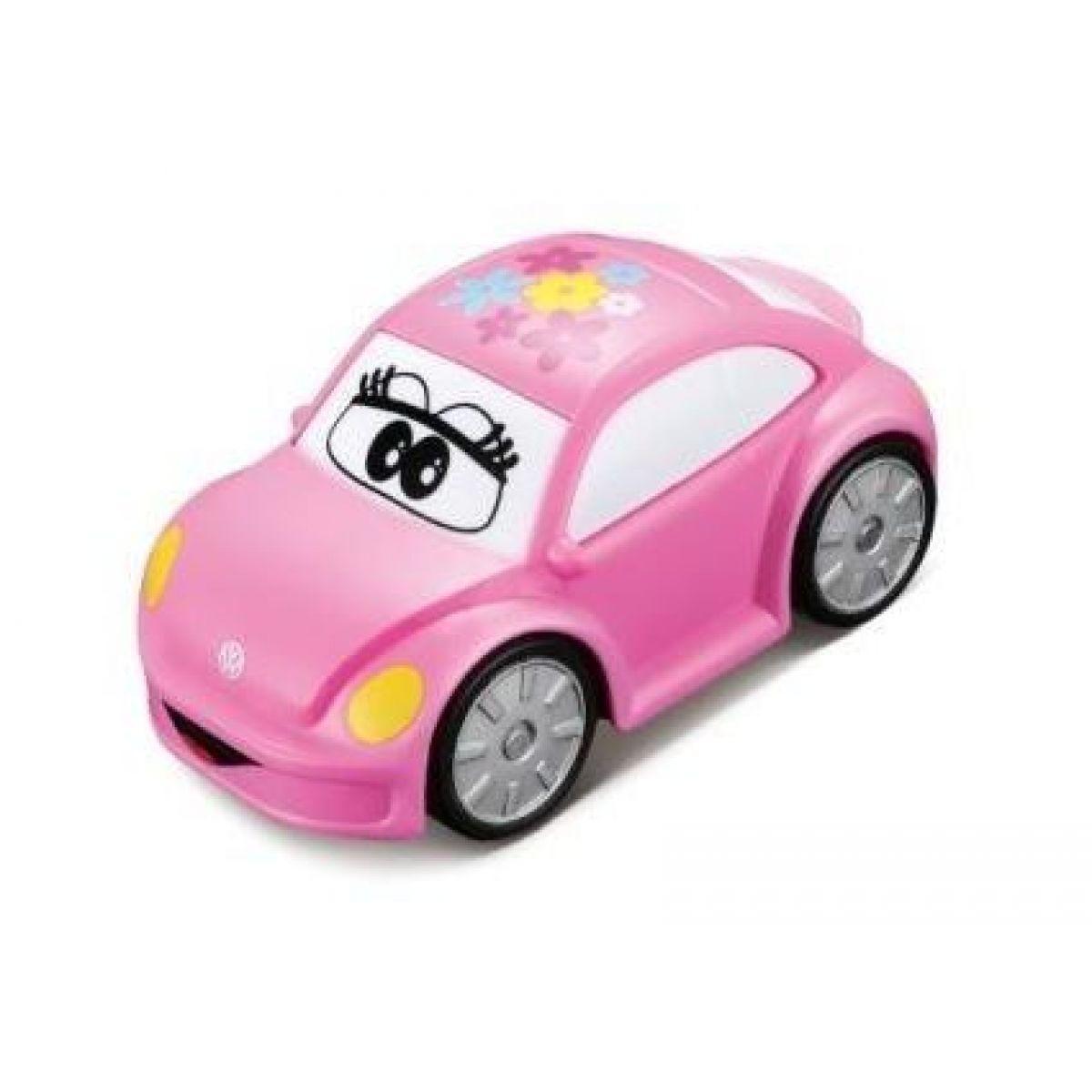 Bburago Volkswagen Beetle plastové autíčko růžové