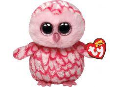 Beanie Boos PINKY 15 cm - růžová sova