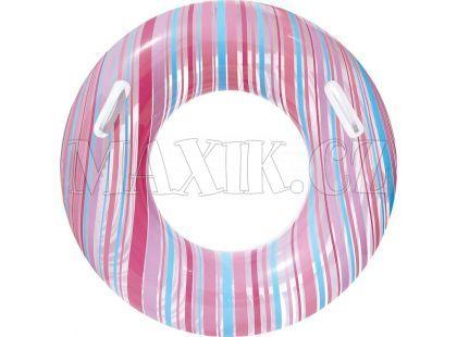 Bestway Nafukovací kruh Proužek 91cm - Růžová