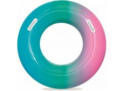 Bestway Nafukovací kruh duhový 91 cm zeleno-růžový