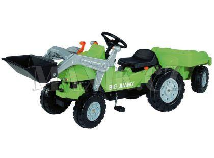 Big Šlapací traktor Jimmy se lžící a vozíkem